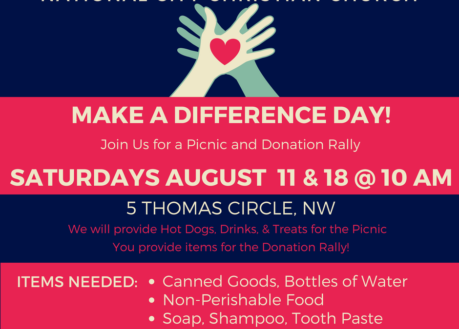 This Saturday – Make A Difference Day!