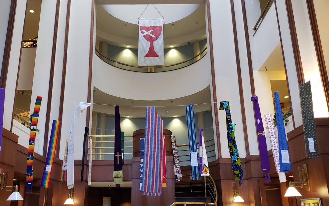 Shower of Stoles Display at National City